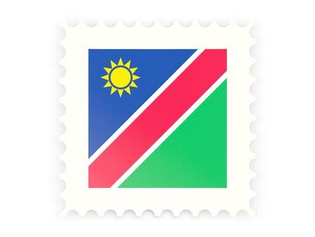 Postage stamp icon of namibia isolated on white photo