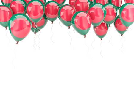 Balloon frame with flag of bangladesh isolated on white Stock Photo