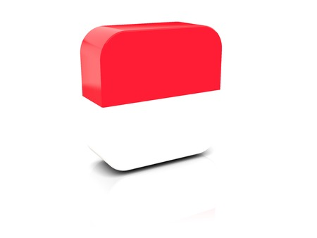 Square icon with flag of monaco with reflection photo