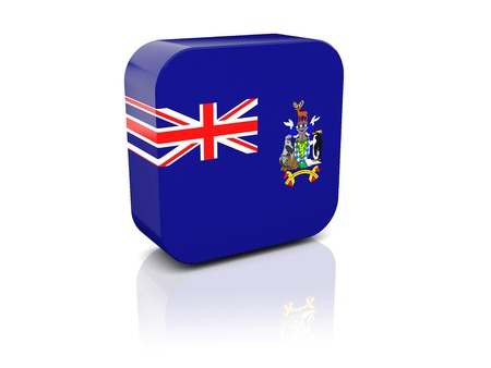 south georgia: Square icon with flag of south georgia with reflection Stock Photo