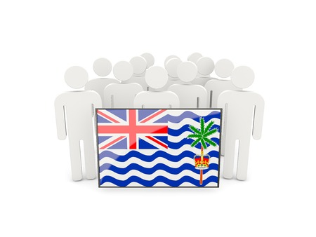 british people: People with flag of british indian ocean territory isolated on white Stock Photo