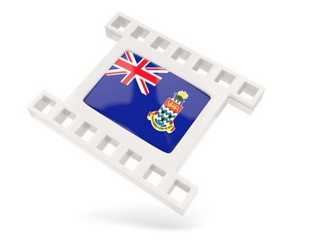 cayman islands: Movie icon with flag of cayman islands isolated on white Stock Photo
