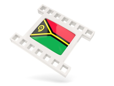 vanuatu: Movie icon with flag of vanuatu isolated on white Stock Photo