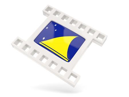 tokelau: Movie icon with flag of tokelau isolated on white Stock Photo