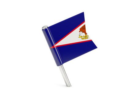 samoa: Flag pin of american samoa isolated on white