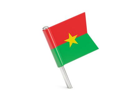 burkina faso: Flag pin of burkina faso isolated on white