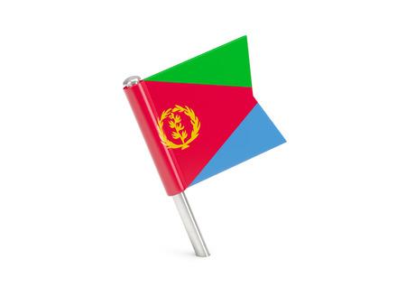 eritrea: Flag pin of eritrea isolated on white