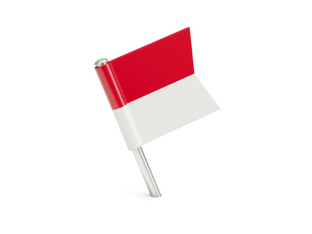 Flag pin of indonesia isolated on white Stock Photo