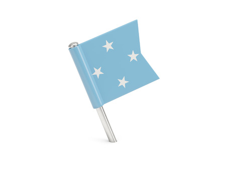 micronesia: Flag pin of micronesia isolated on white Stock Photo
