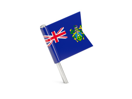 pitcairn: Flag pin of pitcairn islands isolated on white