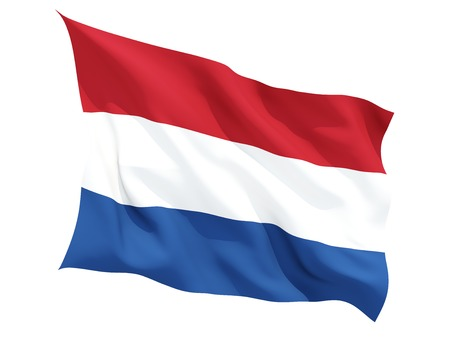 Waving flag of netherlands isolated on white 版權商用圖片 - 39732976