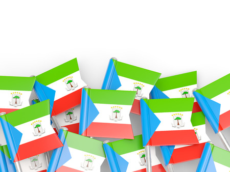 equatorial guinea: Flag pin of equatorial guinea isolated on white