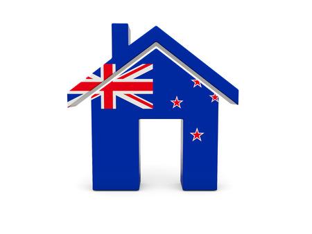 bandera de nueva zelanda: Inicio con la bandera de Nueva Zelanda aislado en blanco