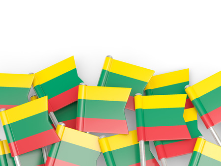 lithuania: Flag pin of lithuania isolated on white Stock Photo