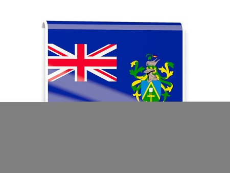 pitcairn: Square flag label of pitcairn islands isolated on white