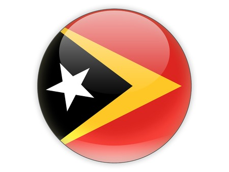 timor: Round icon with flag of east timor isolated on white Stock Photo