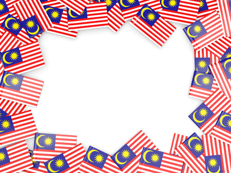 Frame with flag of malaysia isolated on white