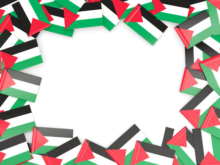 palestinian: Frame with flag of palestinian territory isolated on white Stock Photo