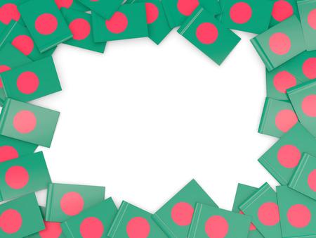 national flag bangladesh: Frame with flag of bangladesh isolated on white