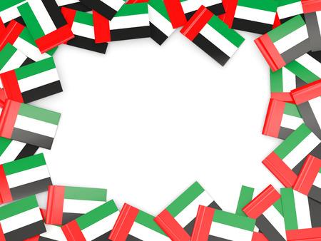 emirates: Frame with flag of united arab emirates isolated on white Stock Photo