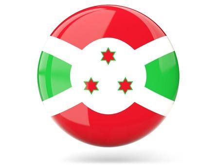 burundi: Glossy round icon with flag of burundi Stock Photo