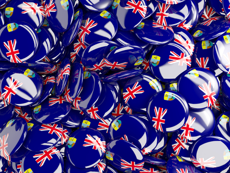 helena: Background with round pins with flag of saint helena