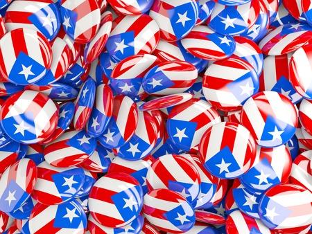 bandera de puerto rico: Fondo con pernos redondos con la bandera de Puerto Rico Foto de archivo
