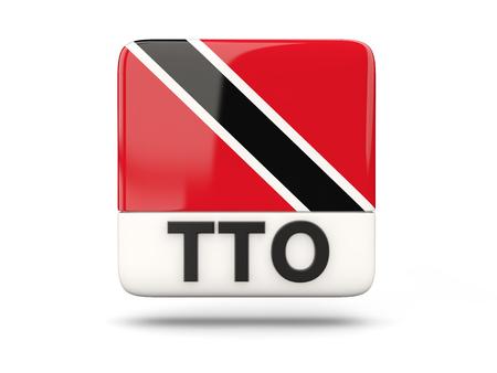 national flag trinidad and tobago: Square icon with flag of trinidad and tobago and ISO code Stock Photo