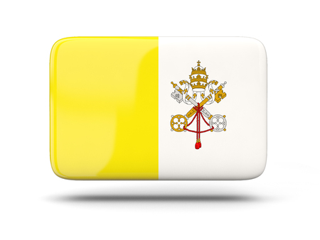 vatican city: Square icon with shadow and flag of vatican city