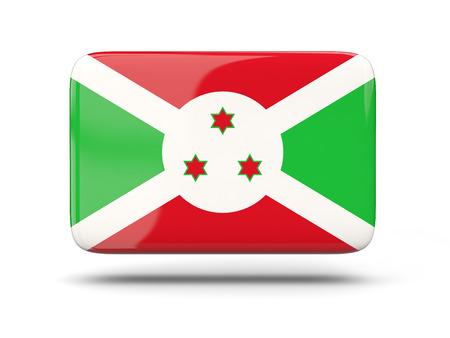 burundi: Square icon with shadow and flag of burundi Stock Photo
