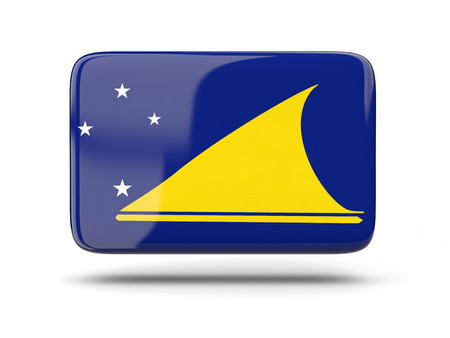 tokelau: Square icon with shadow and flag of tokelau Stock Photo