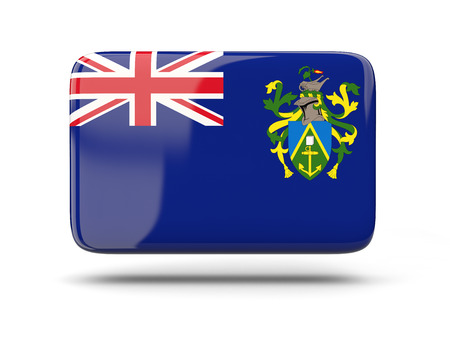 pitcairn: Square icon with shadow and flag of pitcairn islands