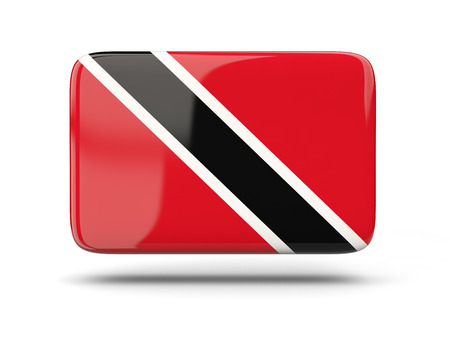 national flag trinidad and tobago: Square icon with shadow and flag of trinidad and tobago