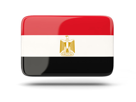 bandera de egipto: Square icon with shadow and flag of egypt