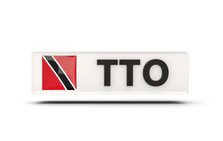 national flag trinidad and tobago: Square icon with flag of trinidad and tobago and ISO code Stock Photo