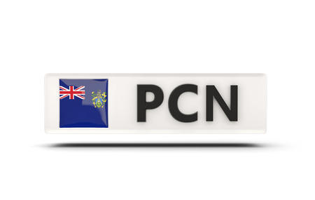 pitcairn: Square icon with flag of pitcairn islands and ISO code