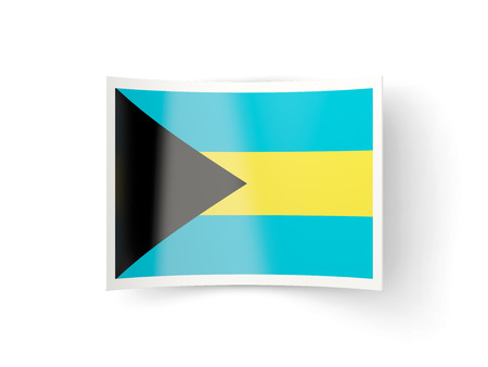 bent: Bent icon with flag of bahamas isolated on white Stock Photo