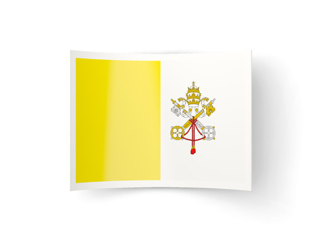 vatican city: Bent icon with flag of vatican city isolated on white Stock Photo