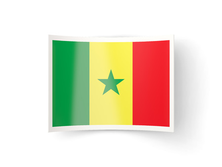 bent: Bent icon with flag of senegal isolated on white