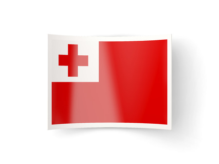 bent: Bent icon with flag of tonga isolated on white