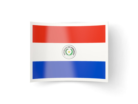 bent: Bent icon with flag of paraguay isolated on white