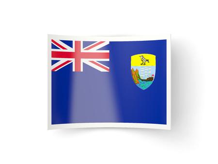 helena: Bent icon with flag of saint helena isolated on white Stock Photo