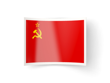 bent: Bent icon with flag of ussr isolated on white
