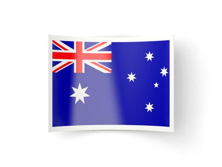 bent: Bent icon with flag of australia isolated on white