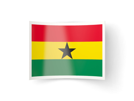 bent: Bent icon with flag of ghana isolated on white Stock Photo