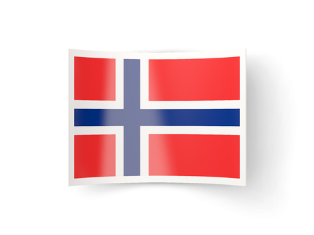 bent: Bent icon with flag of norway isolated on white