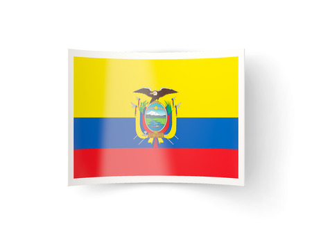 bent: Bent icon with flag of ecuador isolated on white