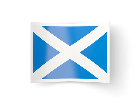 bent: Bent icon with flag of scotland isolated on white