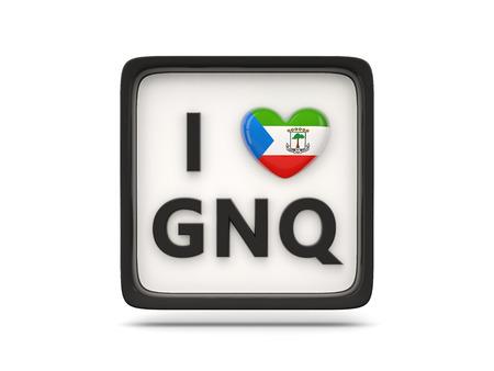 equatorial guinea: I love equatorial guinea sign isolated on white