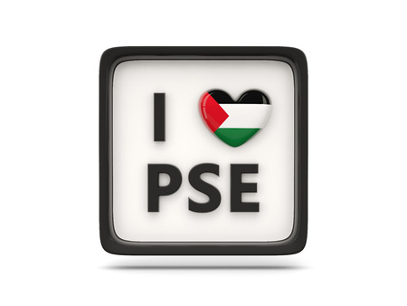 palestinian: I love palestinian territory sign isolated on white